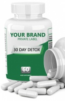 Organic 30 Day Body Detox Dietary Food Supplement Product